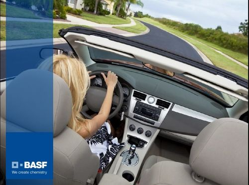 Basf specializes in plastic additives to help car interior and exterior trim weather conditions